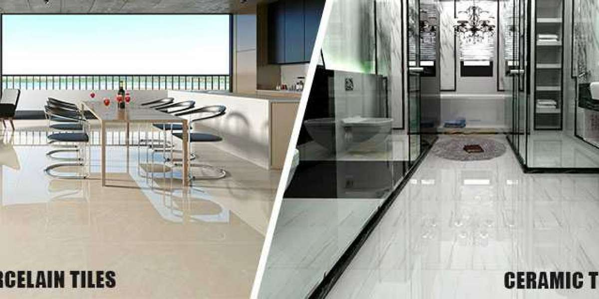 Ceramic floor tiles vs Porcelain floor Tiles How are they different by www.ggcl.in