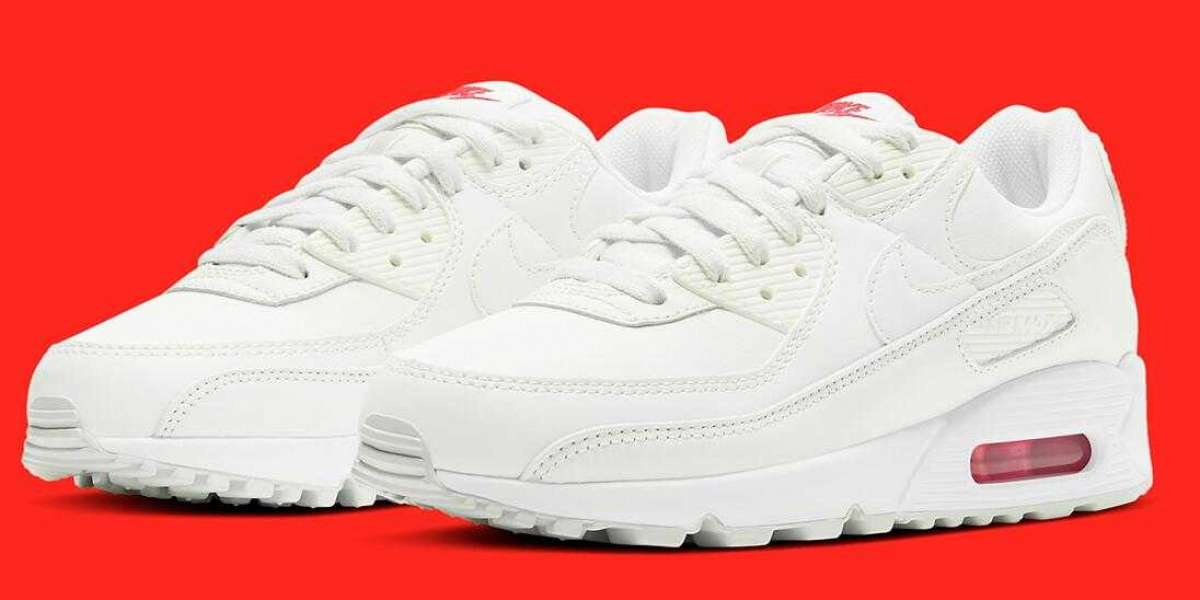 New Release CV8819-102 Nike Air Max 90 Sail Red for Sale