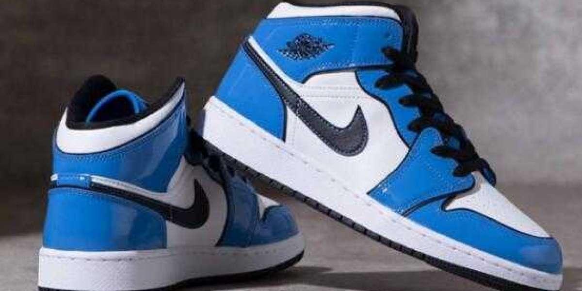 Prepare money and cop the Air Jordan 1 Mid Signal Blue White as soon as it drops